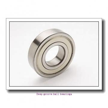12.7 mm x 28.575 mm x 7.938 mm  skf D/W R8-2RZ Deep groove ball bearings