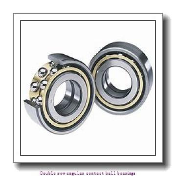 17,000 mm x 47,000 mm x 22,200 mm  SNR 5303EEG15 Double row angular contact ball bearings