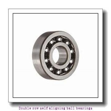 25 mm x 62 mm x 17 mm  NTN 1305SK Double row self aligning ball bearings