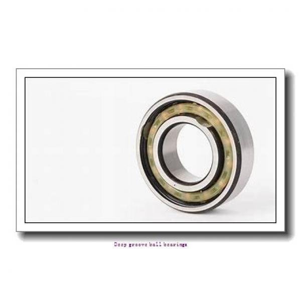 12.7 mm x 28.575 mm x 7.938 mm  skf D/W R8-2Z Deep groove ball bearings #2 image