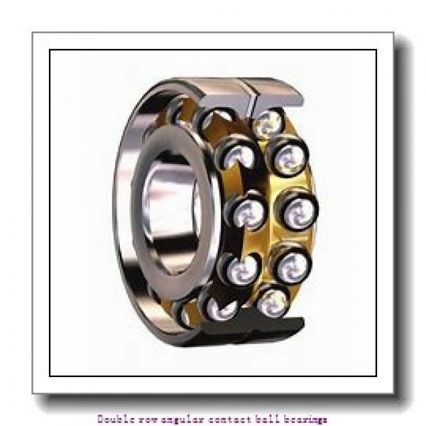 55 mm x 100 mm x 33.3 mm  SNR 3211AC3 Double row angular contact ball bearings #1 image