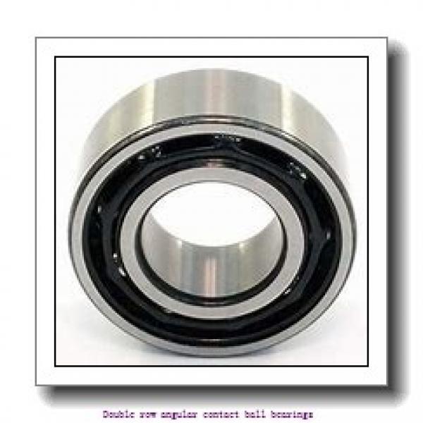 60 mm x 110 mm x 36.5 mm  SNR 3212AC3 Double row angular contact ball bearings #2 image