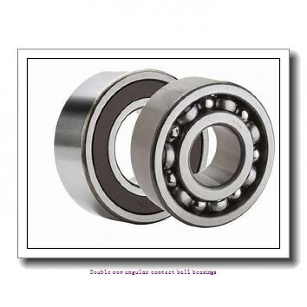 25 mm x 52 mm x 20.6 mm  SNR 3205A Double row angular contact ball bearings #2 image